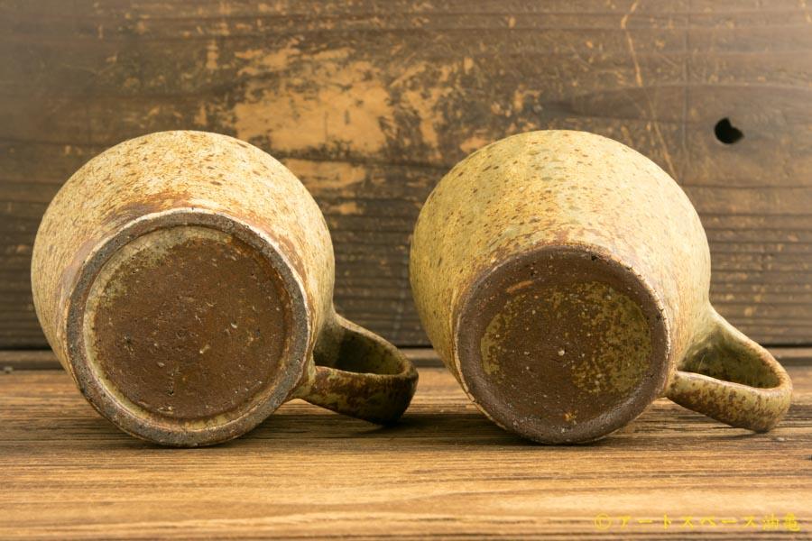 画像5: 馬渡新平「ヒビ粉引き マグカップ」
