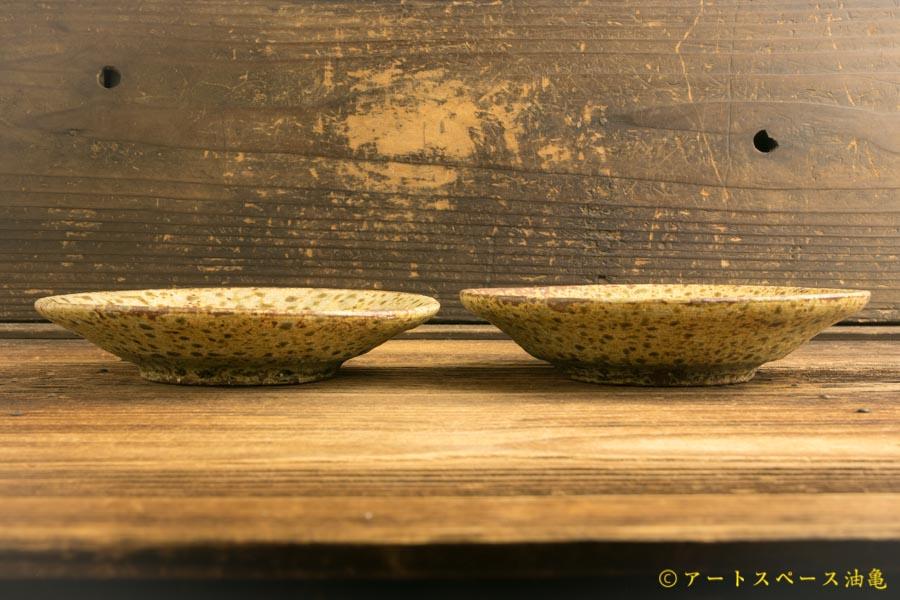 画像2: 馬渡新平「ヒビ粉引 皿5寸」