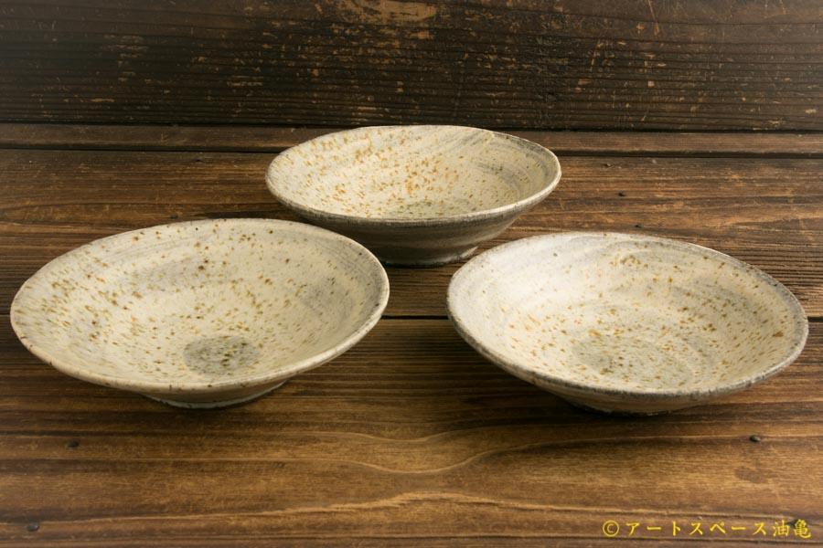 画像3: 馬渡新平「フルーツ灰刷毛目皿5寸」