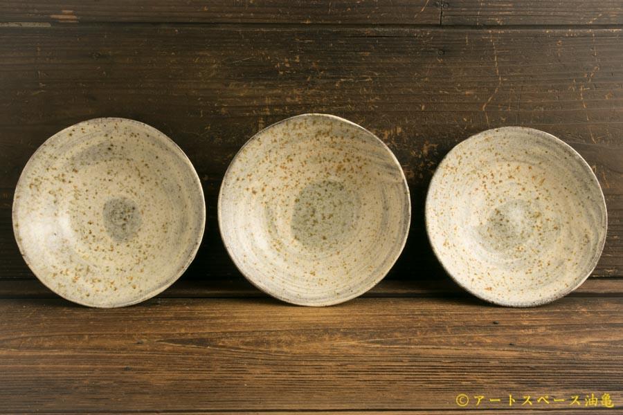 画像1: 馬渡新平「フルーツ灰刷毛目皿5寸」