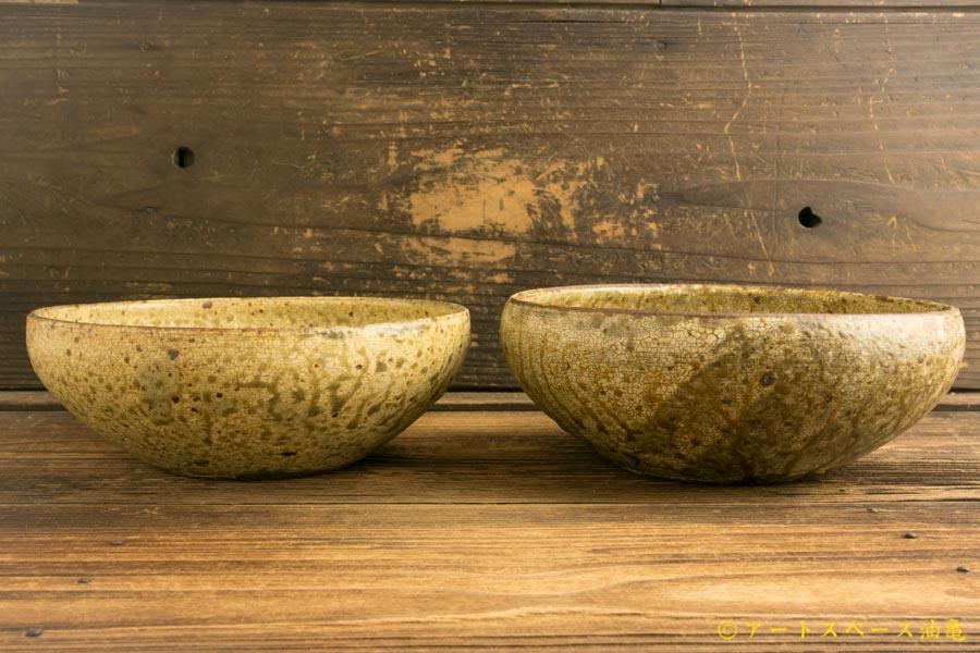 画像3: 馬渡新平「ヒビ粉引き 丸鉢6寸」