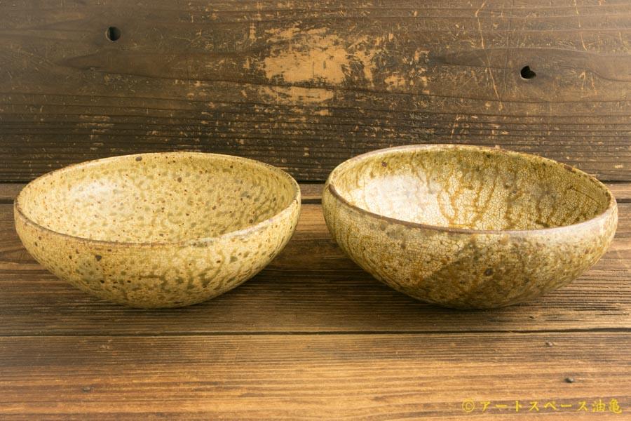 画像1: 馬渡新平「ヒビ粉引き 丸鉢6寸」