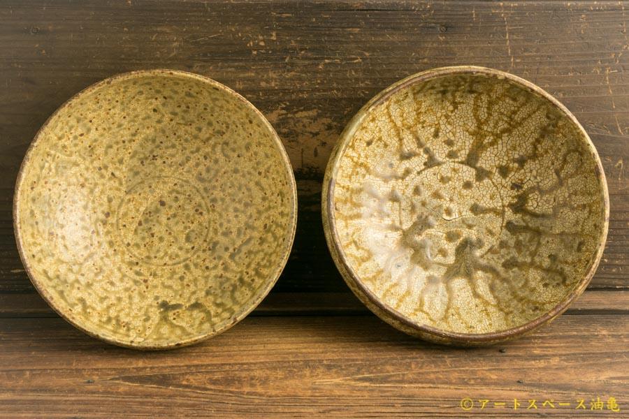 画像4: 馬渡新平「ヒビ粉引き 丸鉢6寸」