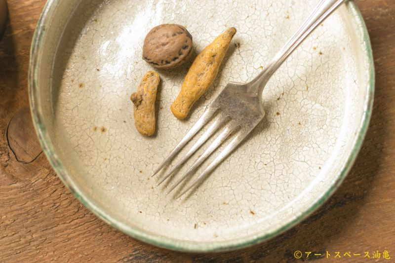 画像3: 馬渡新平 緑ヒビ粉引き(内白) 平鉢5寸