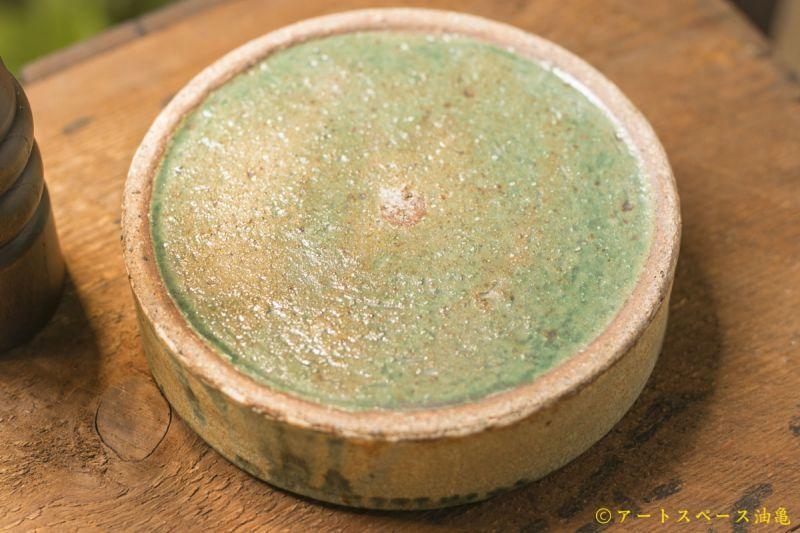 画像5: 馬渡新平 緑ヒビ粉引き(内白) 平鉢5寸