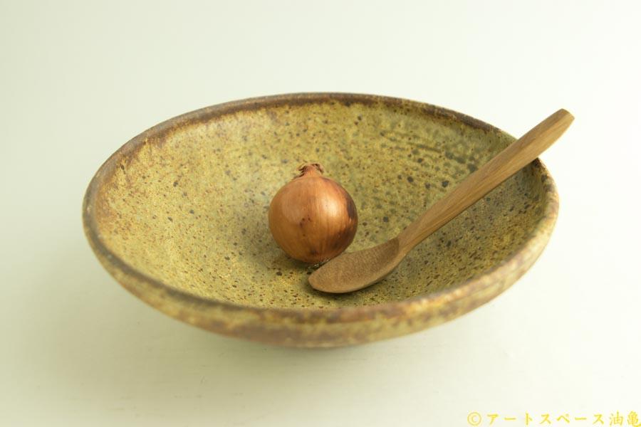 画像2: 馬渡新平「ヒビ粉引き 丸鉢8寸」
