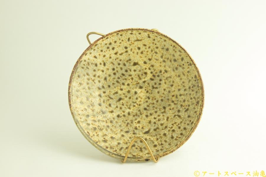 画像4: 馬渡新平「ヒビ粉引き 6寸皿」