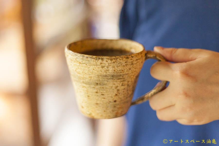画像1: 馬渡新平「刷毛目マグカップ」