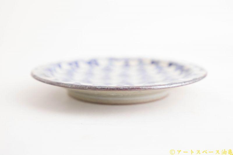 画像3: ヒヅミ峠舎 三浦圭司・三浦アリサ「染付 リム5寸皿 星のフラッグ」