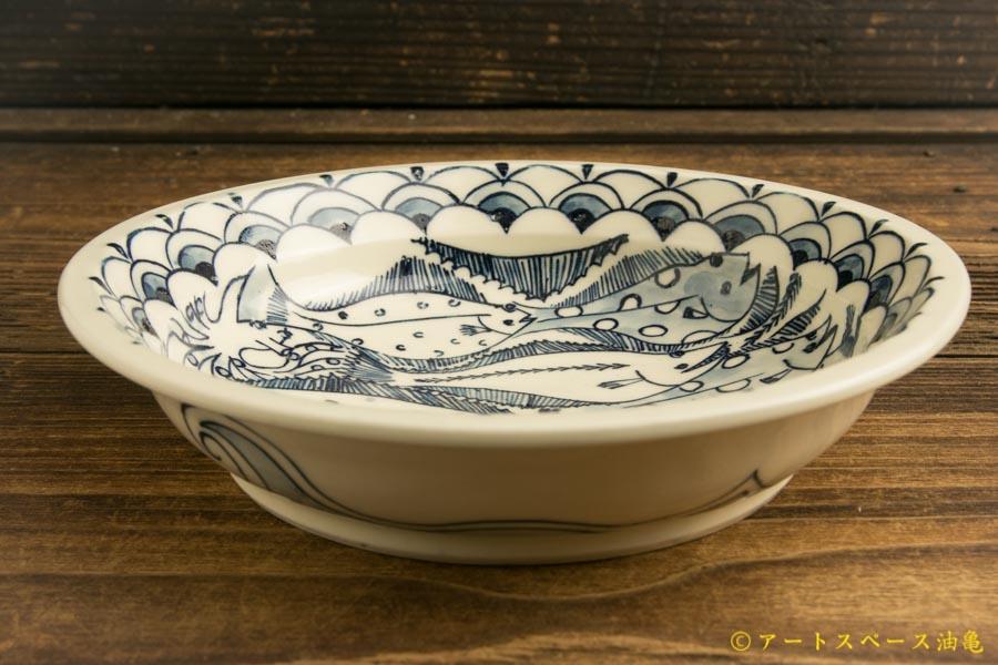 画像2: ほりゆめこ 「染付 カレー鉢 カレイ(小)」