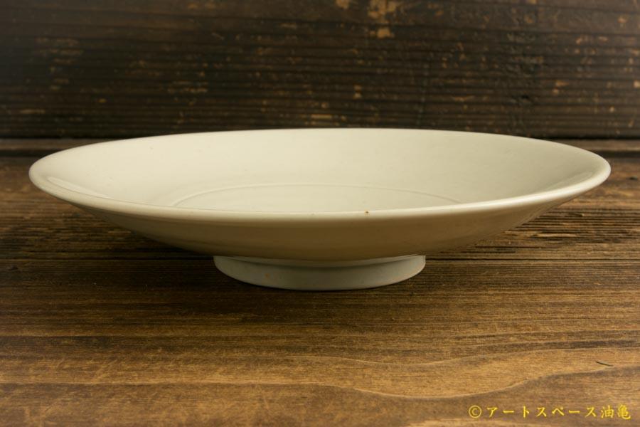 画像2: 水垣千悦「6寸皿 白磁」