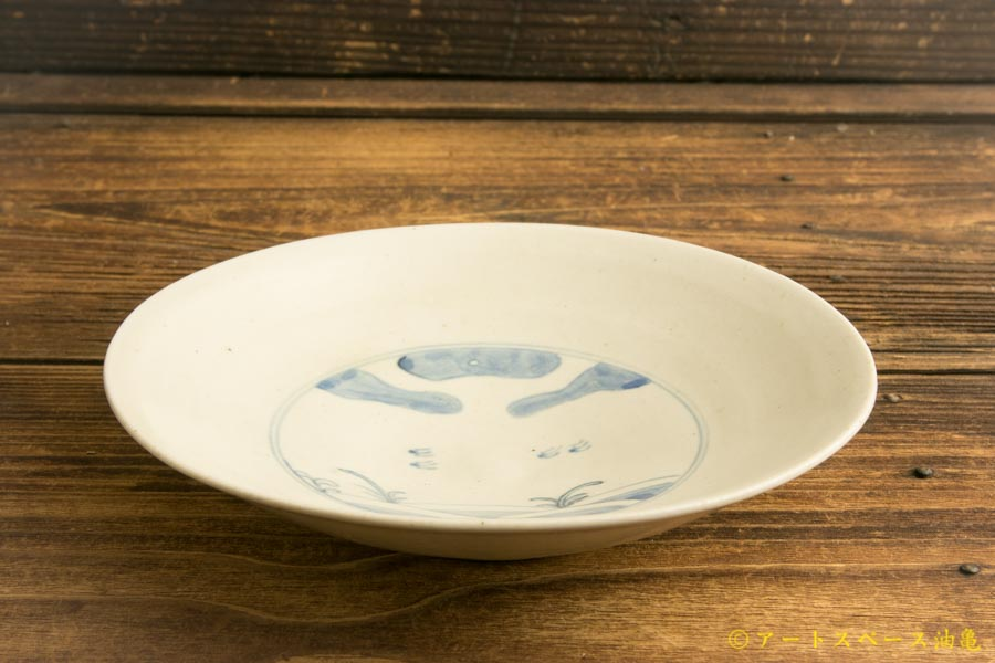 画像2: 水垣千悦「染付 千鳥 5寸皿」