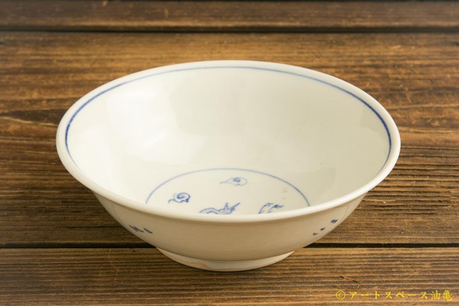 画像2: 水垣千悦「染付 鶴 5寸皿」