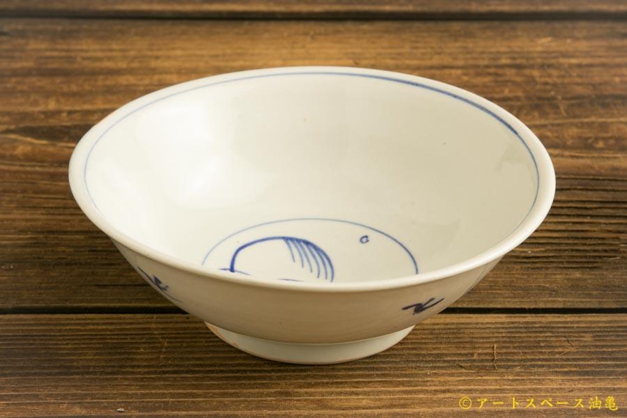 画像2: 水垣千悦「染付 柳 5寸皿」
