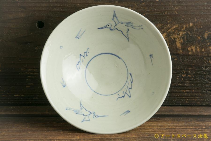 画像1: 水垣千悦「染付 6寸鉢」