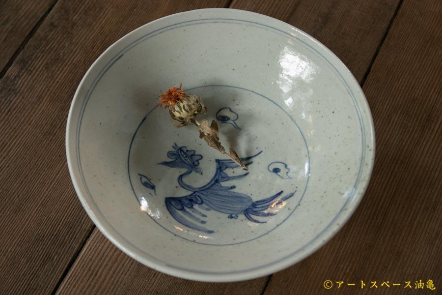 画像1: 水垣千悦 染付 ホウオウ 6寸鉢
