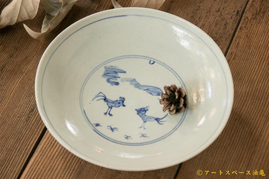 画像1: 水垣千悦 染付 ニワトリ皿