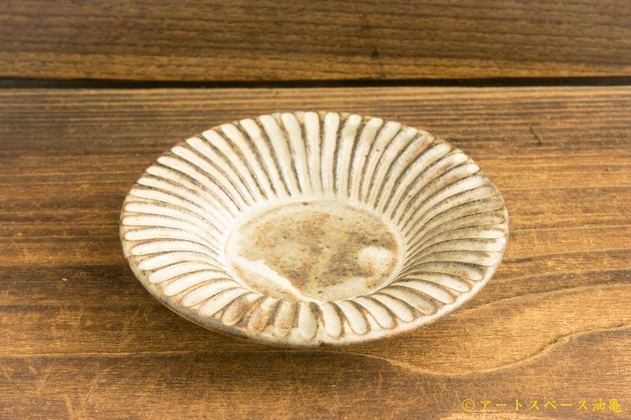 画像2: 小倉夏樹「灰粉引3寸リム皿」