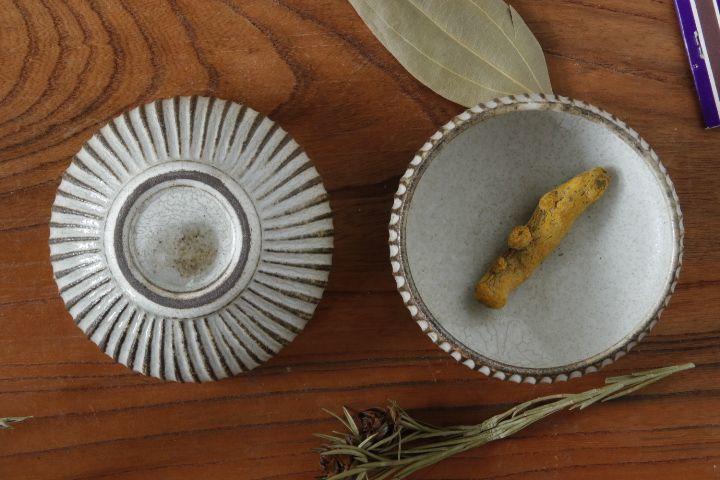 画像3: 小倉夏樹「灰粉引 鎬丸豆鉢」