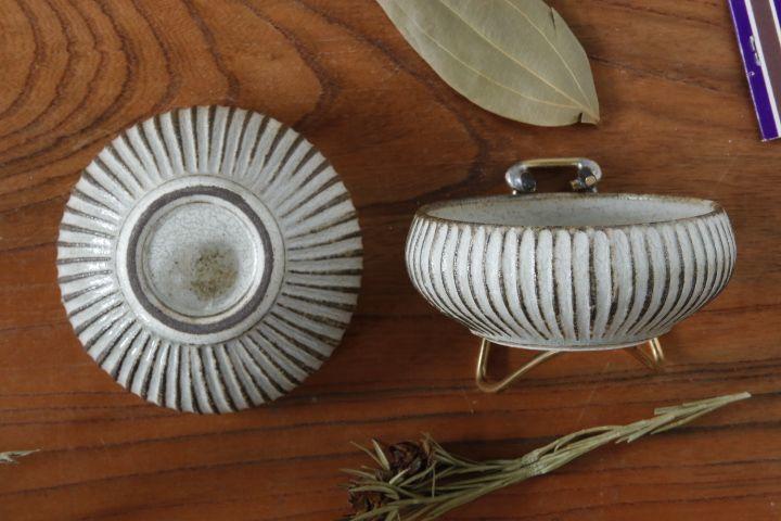 画像4: 小倉夏樹「灰粉引 鎬丸豆鉢」