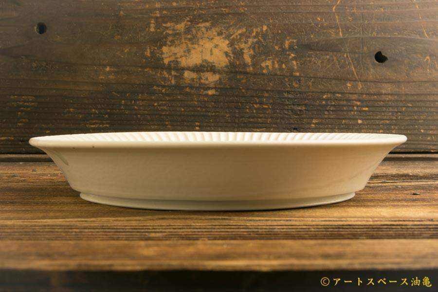 画像3: 小倉夏樹「白磁 鎬 リム皿7寸」