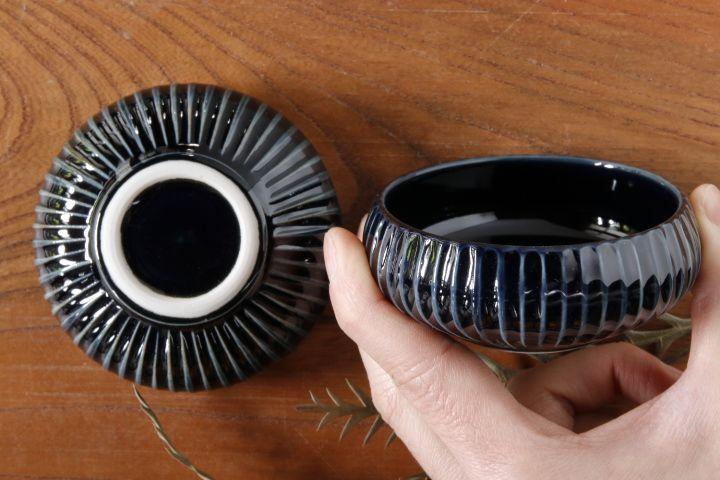 画像2: 小倉夏樹「瑠璃釉 鎬丸豆鉢」【アソート作品】