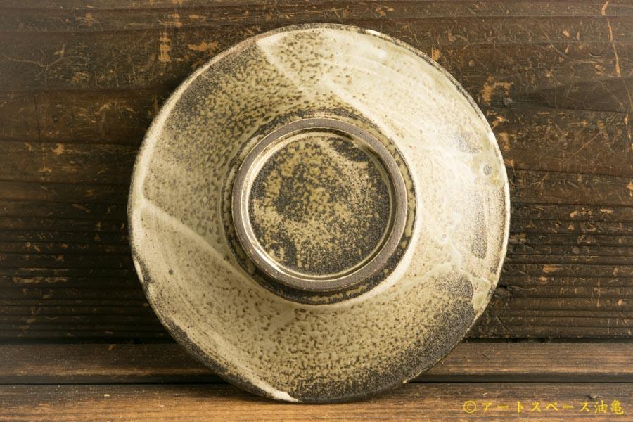 画像4: 小倉夏樹「灰粉引 鎬リム皿5寸」