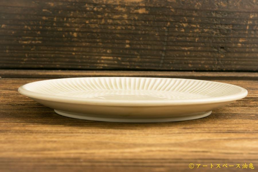 画像3: 小倉夏樹「白磁 鎬平皿5寸」