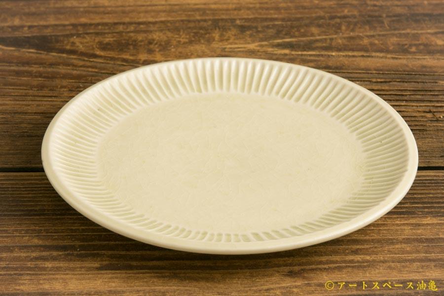 画像2: 小倉夏樹「白磁 鎬平皿5寸」