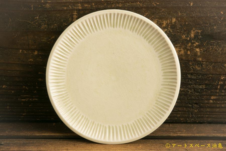 画像1: 小倉夏樹「白磁 鎬平皿5寸」