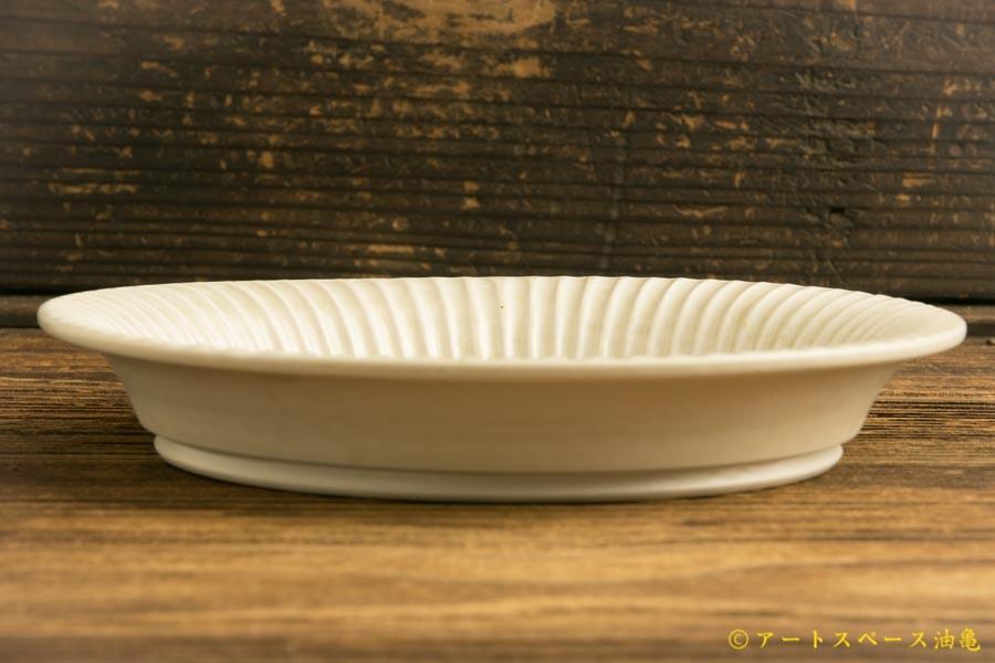 画像3: 小倉夏樹「白磁 鎬リム平皿5.5寸」