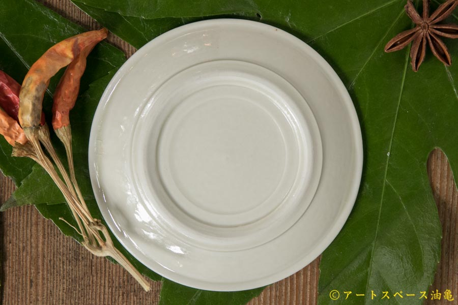 画像2: 小倉夏樹 白磁 鎬平豆皿