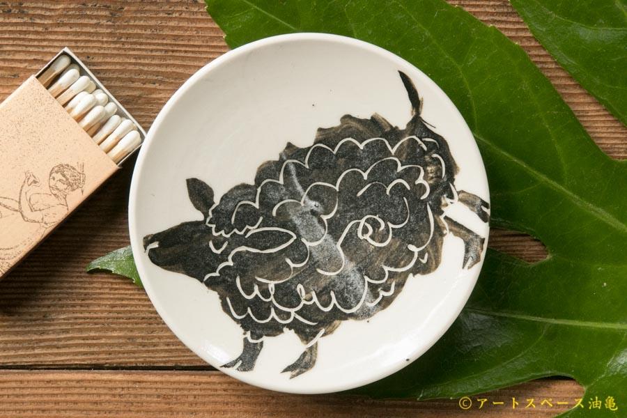 画像1: 大隈美佳 黒絵の小皿