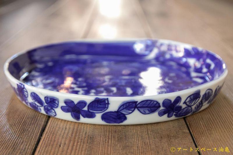 画像3: 大隈美佳 天然コバルト 青絵ドラ鉢