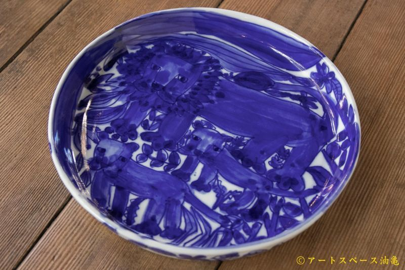 画像2: 大隈美佳 天然コバルト 青絵ドラ鉢