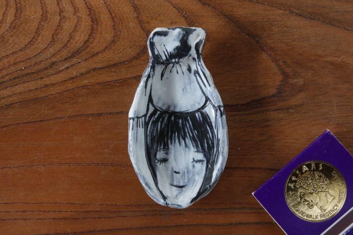 画像1: 奥山泉「人 豆皿」