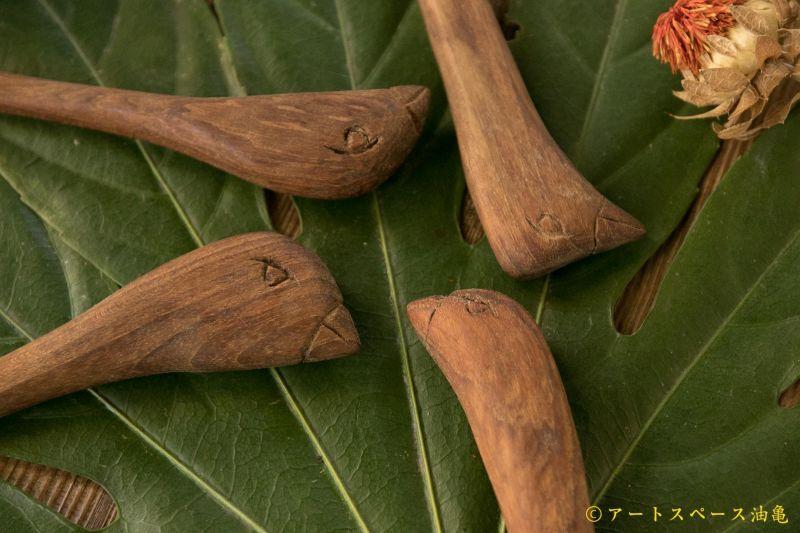 画像3: 奥山泉 木のスプーン とり(約18.0〜20.0cm)【アソート作品】
