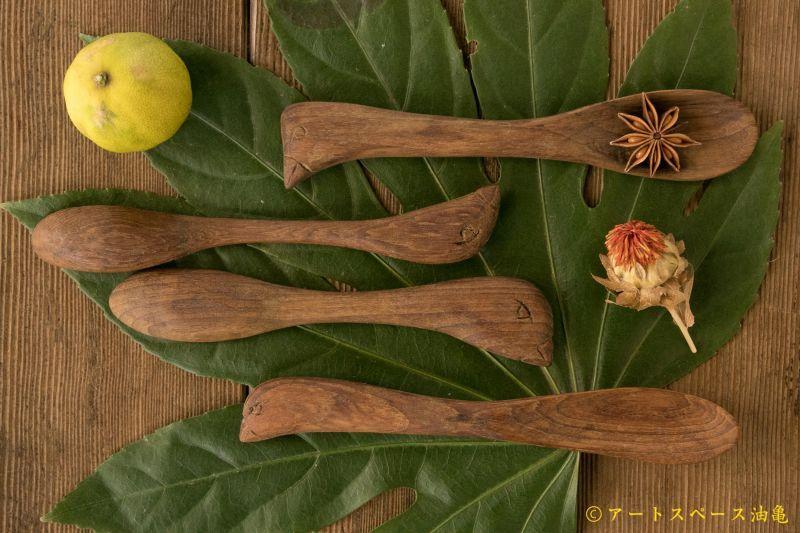 画像2: 奥山泉 木のスプーン とり(約18.0〜20.0cm)【アソート作品】