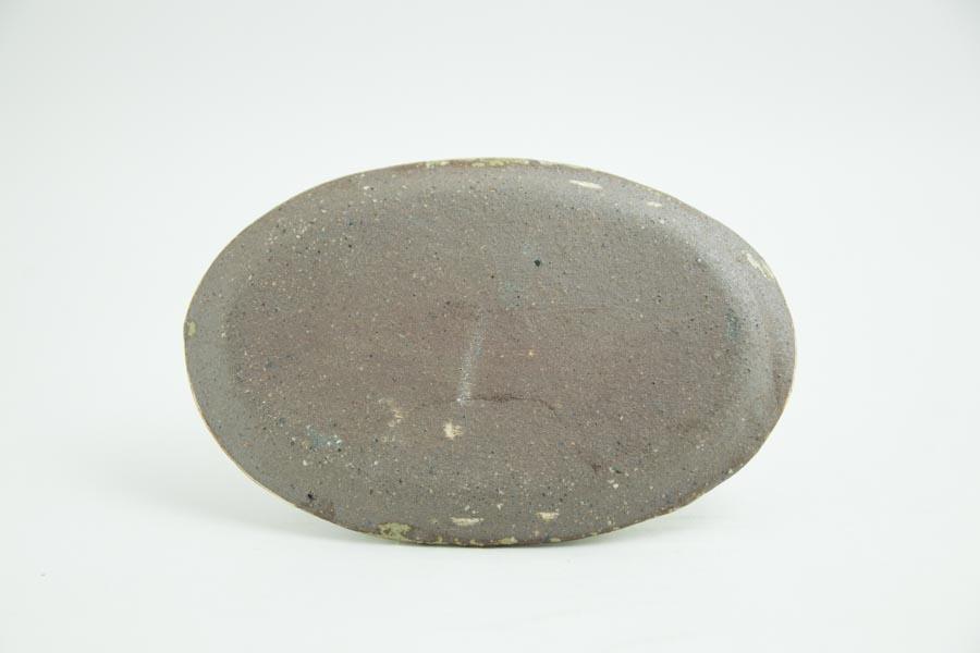 画像4: 馬渡新平「ヒビ粉引き オーバル皿5寸」