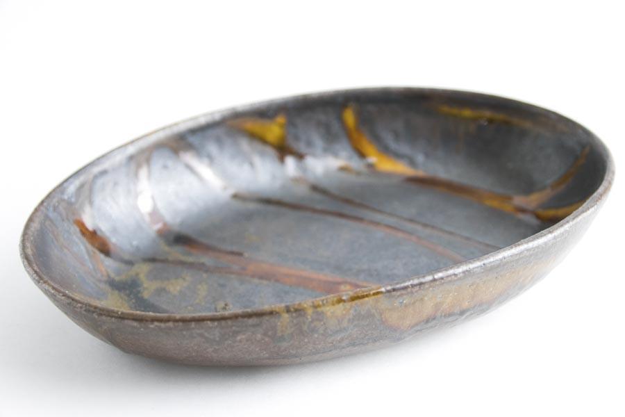 画像2: 井上尚之「スリップ楕円鉢 中(耐熱陶器)」