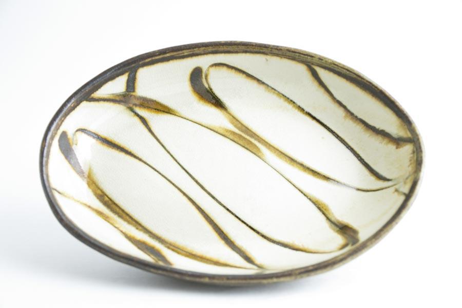 画像1: 井上尚之「スリップ楕円鉢 中(耐熱陶器)」