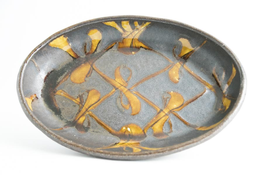 画像1: 井上尚之「スリップ楕円鉢 大(耐熱陶器)」