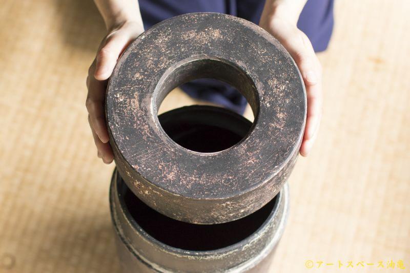 画像1: 大澤哲哉 アートスペース油亀オリジナル ゴミ箱 黒 大