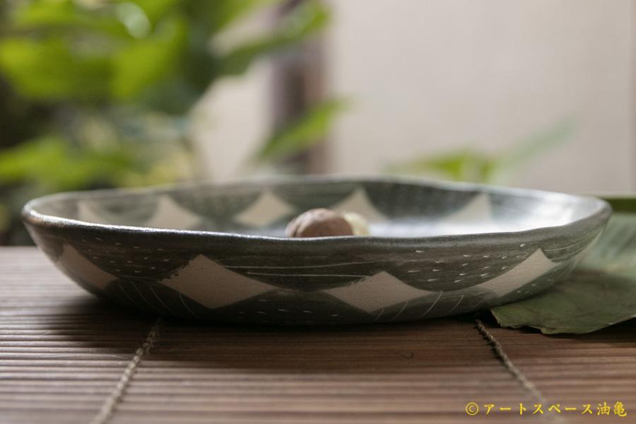 画像2: シマシマポタリ 深皿(中)