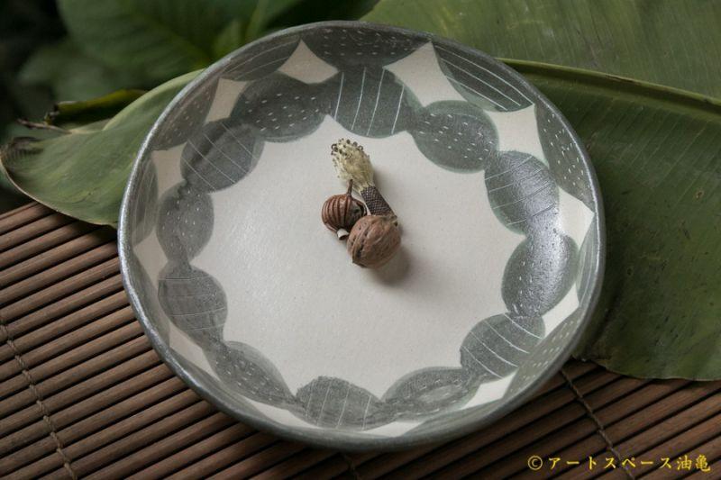 画像1: シマシマポタリ 深皿(中)