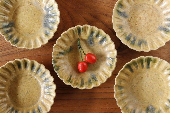 画像1: 須賀文子「輪花豆皿」