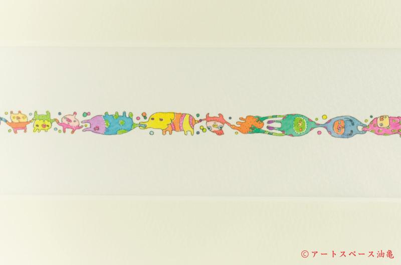 画像3: スサイタカコ 「ポンポコピーピー ユメウツツ」 原画 額縁付き