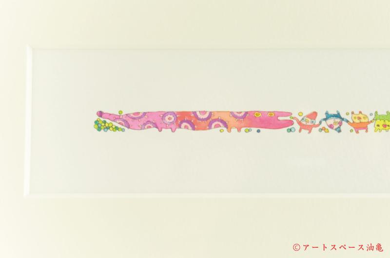 画像2: スサイタカコ 「ポンポコピーピー ユメウツツ」 原画 額縁付き