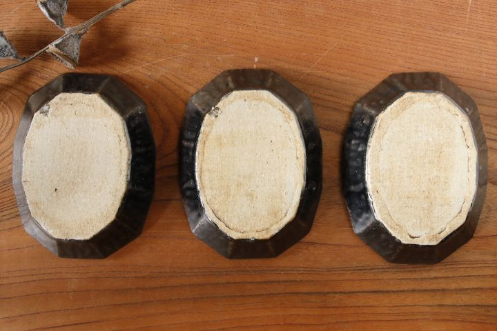画像4: 高島 悠吏「黒釉 十二角楕円豆皿」【アソート作品】