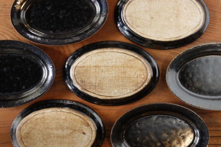 画像4: 高島 悠吏「黒釉 楕円豆皿」【アソート作品】